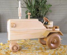 Wooden Toy TRACTOR a Delightful Play Companion by Aroswoodcrafts, $24.95