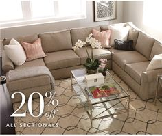 20% off all sectionals
