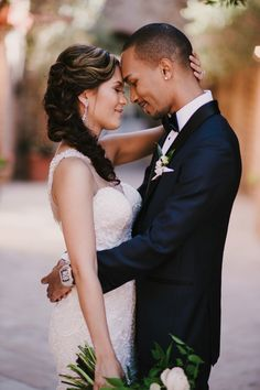 glamorous wedding power couple
