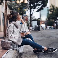 """OOO: Major relaxation underway ☕ Show us how you're embracing your """"me time"""" & your Stitch Fix style by tagging your photos with for a chance to be featured. Winter Fashion Outfits, Fall Outfits, Summer Outfits, Casual Outfits, Runway Fashion, Womens Fashion, Fashion Tips, Fashion Bloggers, Latest Fashion"""