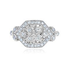 Gabriel & Co. - 14kt White Gold Diamond Ring. $1,275.