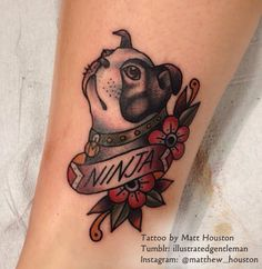 American Traditional Dog Tattoo A Neo