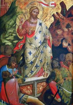 Lorenzo Veneziano (Italian, born 1336) ~ Italian Gothic ~ Resurrection ~ 1371 ~ Lorenzo Veneziano was an Italian painter. His earliest altarpiece was painted for the high altar of the church of Sant' Antonio di Castello, and is now in the Gallerie dell'Accademia of Venice.