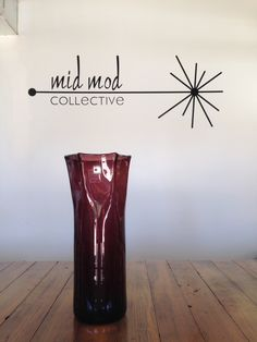 Vintage Blenko amethyst vase. Available at Mid Mod Collective. Email midmodcollective@gmail.com for more info.