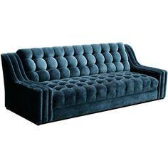 Modern sofas ideas  Blue velvet sofa , a must have piece for luxury decor    bocadolobo.com   #sofa #sofasideas #modernsofa #livingroom