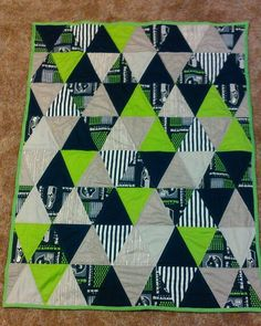 Seahawks triangle quilt