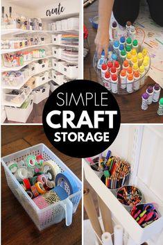 Kids Craft Storage, Arts And Crafts Storage, Arts And Crafts For Teens, Art And Craft Videos, Easy Arts And Crafts, Fun Crafts For Kids, Space Crafts, Craft Organization, Storage Ideas