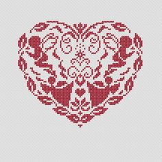 Christmas heart II. PDF Cross Stitch Pattern. $4.00, via Etsy.