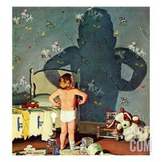 """""""Big Shadow, Little Boy,"""" October 22, 1960 Giclee Print by Richard Sargent at Art.co.uk"""