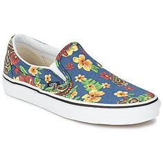 Floral slip on trainers by Vans, classic meets trendy @spartoouk