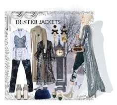 """""""duster"""" by snowmoon ❤ liked on Polyvore featuring J Brand, Jimmy Choo, Rosie Assoulin, Jacquemus, Fendi, Chopard, Ivanka Trump and Betsey Johnson"""
