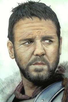 Gladiator by ghosthorror  | First pinned to Celebrity Art board here... http://www.pinterest.com/fairbanksgrafix/celebrity-art/ #Drawing #Art #CelebrityArt
