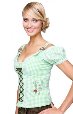 Traditional dirndl corsage Ariane appel green