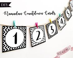 Ramadan countdown, Ramadan advent calendar, Printable Ramadan decorations, Ramadan 30 days, Ramadan decorations, Ramadan printable calendar by AmalDesign on Etsy https://www.etsy.com/listing/587324654/ramadan-countdown-ramadan-advent