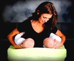 Baby Basics- Breastfeeding Twins   Great tips and ideas for new twin mamas!  Read more at Twiniversity.com