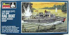 Monogram 1/48 Vietnam Rag Boat River Assault Group (STCANS), PB179-200 plastic model kit (1967)