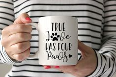 True Love Has Four Paws Dog Dog Mom Cat Cat Mom Shirt Paw Prints The Road to My Heart is Paved with Paw Prints Fur Mama Coffee Mug Shirt Decal Vinyl Decal SVG Cut File • Cricut • Silhouette Vector • Calligraphy • Download File • Cricut • Silhouette Cricut projects - cricut ideas - cricut explore - silhouette cameo By Kristin Amanda Designs