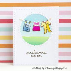 "Frau Vögeli: Welcome Baby Girl - Lawn Fawn ""little bundle"""