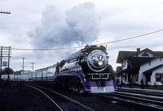 SP 4449 on the American Freedom Train, west (south) bound at Vancouver Washington November 1975 Dave Wilkie photo Vancouver Washington, Washington State, Clark County, American Freedom, Local History, Back In The Day, Historical Photos, Pacific Northwest, Oregon