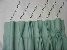 Window Treatment Pleat Styles www.normandeauwc.com