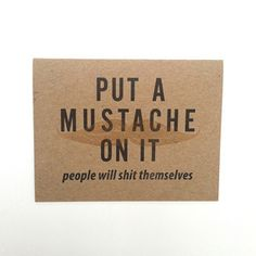 Mustache Card Set Of 3 now featured on Fab.