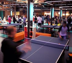 SPiN Milwaukee - yep, an entire place dedicated to ping pong!  Great idea of a fun to-do-trip to Milwaukee's Third Ward.