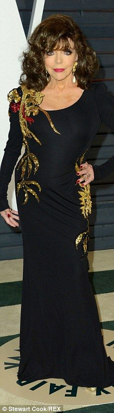 Black is back: Thandie Newton, Anjelica Huston, Dame Joan Collins and Kate Upton donned sl...