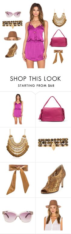 """The New Faminine 2"" by camry-brynn ❤ liked on Polyvore featuring Sofia by Vix, RED Valentino, Ettika, Lovers + Friends, Neiman Marcus, Linda Farrow and Assembly Label"