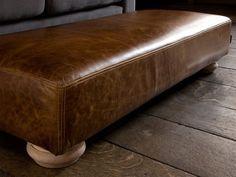 Grandad leather footstool