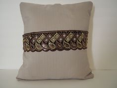 accent pillow cover ,decorative pillow 14 x 14 inches bling cushion with sequins lace by arjeescollections on Etsy