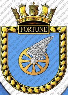 HMS Fortune H70 Navy Badges, Emblem, Navy Ships, Crests, Royal Navy, Porsche Logo, Patches, Flag, Symbols