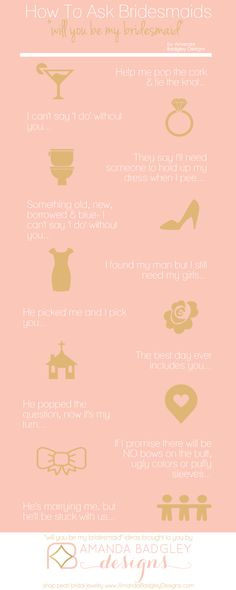 10 will you be my bridesmaid ideas | Click for tips on how to ask bridesmaids...