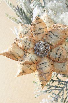 Rustic Poinsettia Christmas Ornament via Etsy
