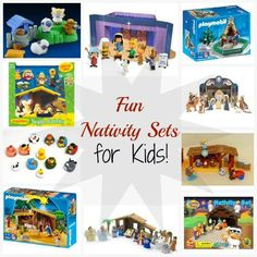 10 Different Nativity Sets for Kids! I love having nativity sets my kids can play with (so that they leave my fancy ones alone) :) #christmas #nativitysets
