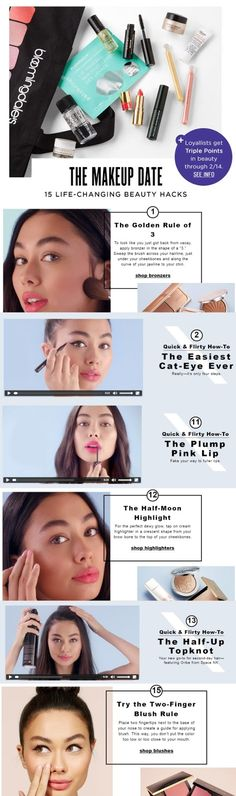 Make Up Hot and New:  15 Life-Changing Beauty Hacks from Bloomingdales