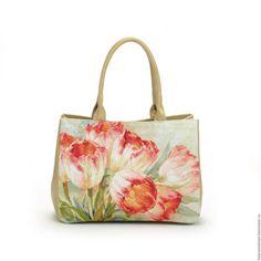 9f1418896adc Купить или заказать Сумка-портфель 'Тюльпаны' в интернет-магазине на  Ярмарке Мастеров