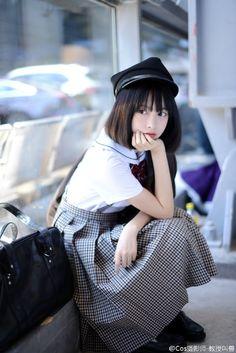 Most Beautiful girls and Sexy Babes! Cute School Uniforms, School Uniform Girls, Girls Uniforms, School Girl Japan, Japan Girl, Asian Short Hair, Girl Short Hair, Cute Asian Girls, Cute Girls