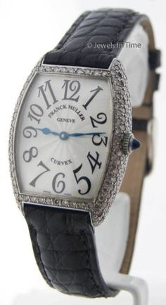 e653f4979af Franck Muller Ladies Curvex 7502 QZ Steel   Diamonds Quartz Watch  Box Papers Franck Muller