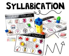 Syllabication Activities for First Grade and Kindergarten - great for independent work, centers, or small group guided reading warm-ups! Hands-on, relevant, and engaging! These activities provide tactile and visual relationships to foundational skills! Pre Reading Activities, Guided Reading Lessons, Phonics Activities, Language Activities, Reading Strategies, Reading Skills, Readers Workshop Kindergarten, Reading Workshop, Kindergarten Reading