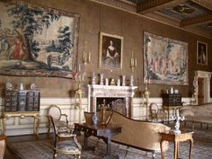 Saloon, Chirk Castle, Chirk, Shropshire