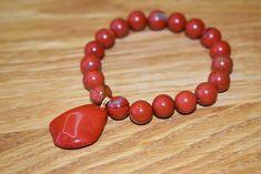 Red Jasper Handmade Bracelet Handmade Bracelets, Beaded Bracelets, Handmade Gifts, Red Jasper, Natural Red, Shop, Etsy, Jewelry, Kid Craft Gifts