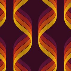 pattern orange brown yellow curves - just the right amount of transparency