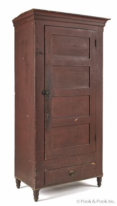 Pennsylvania painted poplar wall cupboard, ca. 1840