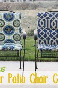 make your own patio chair cushions!