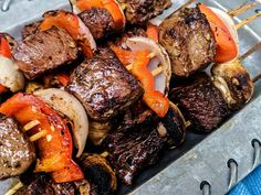 Marinated Beef Kabobs – Beef for the Whole Family! – Blackberry Babe Marinated Beef Kabobs – Beef for the Whole Family! Marinated Beef Kabobs, Beef Kabob Marinade, Beef Kabob Recipes, Grilled Beef, Beef Recipes For Dinner, Grilling Recipes, Cooking Recipes, Steak Recipes, Steak Marinate