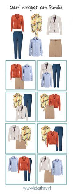 Geef 'losse' kledingstukken een familie | www.lidathiry.nl | klik voor tips naar het bijbehorende bericht #basisgarderobe #garderobeplanning #GeefWeesjesEenFamilie