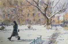Peto Poghosyan  Immersed, 29x42 cm, watercolor on paper, 2017