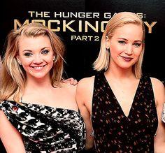 Jennifer Lawrence Kisses Hunger Games Costar Natalie Dormer: Watch - Us Weekly