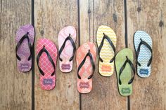 Custom Design Personalized Women's Flip Flops - http://www.thecutekiwi.com/womens-flip-flops-personalized-sandal/