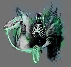 Death by sReinking on deviantART Horsemen Of The Apocalypse, Angel Of Death, The Grim, Grim Reaper, Skeletons, Skulls, Horror, Cartoons, Deviantart